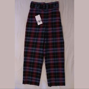 Plaid Belted Pant